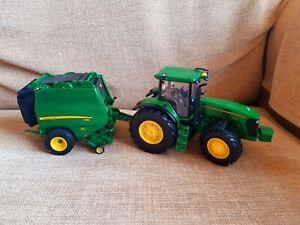 Britains Farm Toys John Deere 7930 Tractor Bailer 990 bundle Die Cast 1/32 scale