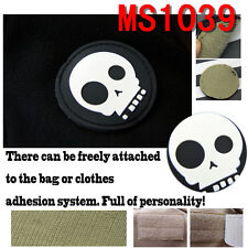 Original Black Military Pirate Skull Sticker Tactical Skeleton Patch Punisher