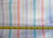Vintage Minnetonka White Orange Green Purple Yikes Stripes 100% Combed Cotton BY