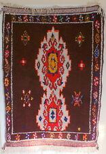 Moroccan Berber Authentic  Hand Made  Multicolor rug 4.8x3.9 very unique