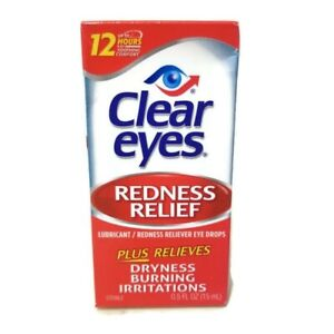 CLEAR EYES REDNESS RELIEF LUBRICATING EYE DROPS 15ml. EXP 12/2022