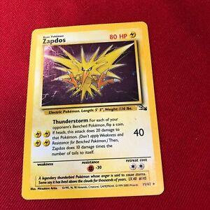 Pokemon Fossil Zapdos Holo 15/62  NM/LP ~PKMN MY19