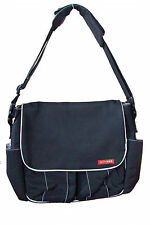 Skip Hop Via Messenger Diaper Bag Baby Travel Bag Tech Shoulder Tote Black