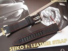 Seiko honda f1 bracelet Cuir Band watchband pour seiko sportura 4kt3jz spc003