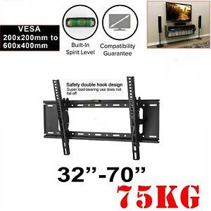 TV Wall Mount Bracket Tilt Slim LCD LED 32 40 42 47 50 55 60 62 65 70 80 inch