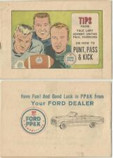 1962 FORD PUNT PASS KICK MINI GIVEAWAY PROMO COMIC VFNM JOHNNY UNITIS YALE LARY