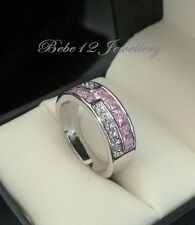 Simulated Pink Diamond Ring/White gold/RGR104