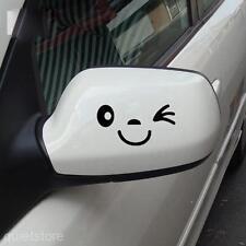 NEU Schwarz Lächeln Gesicht Aufkleber Für Auto Rückspiegel Aufkleber 1*Paar