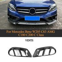 2xCarbon Lufteinlass Entlüftung Air Vent für Merceben Benz W205 C-Klasse C43 AMG