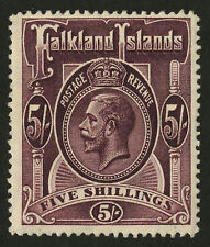 Falkland Islands  1912-14  Scott # 38  Mint Lightly Hinged