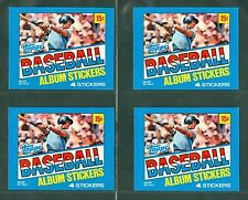(4) 1981 TOPPS STICKERS WRAPPERS - GEORGE BRETT (NM-MT) / LOT OF 4