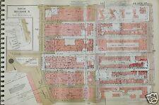 Orig 1955 Atlas Map CHELSEA Manhattan GW Bromley New York 11x16 Plates (47-48)