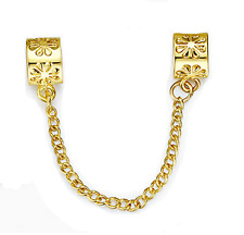 Spacer Snowflake Gold Safety Chain European Charm Silver Bead For Bracelet