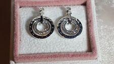 PANDORA  Circles Earrings. Sterling Silver S925 ALE  296296CZ