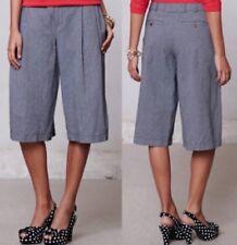 NWT ANTHROPOLOGIE CARTONNIER Blue Pin Striped Wide Leg Culottes Shorts Size 6