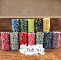 Bakers Twine 10 Metres Wedding Party Crafts String Ribbon 100% cotton 12 colours