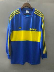 1981 Boca Juniors Long Sleeve Home Maradona 10 Retro Soccer Jersey 1981 Football