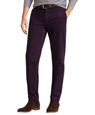 Brooks Brothers Mens Wine Red Milano Fit Stretch Corduroy Pants 36W x 32L 8596-3