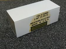 Western Electric (for French Army) AUDIO Capacitor 288A Paper Oil 2MFD 600VDC