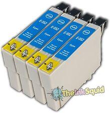 4 T0552 cyan non-oem cartouche d'encre pour Epson Stylus Photo RX420 RX425 RX520