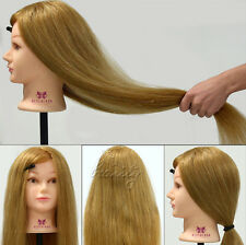 "Cosmetology Training Head Mannequin,100% Real Animal Hair, 26"" Long Hairdressing"