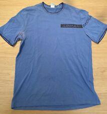 Vintage Armani Exchange Men's Knit Blue Logo T-shirt