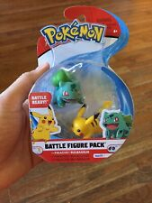 🔥🔥 Pikachu And Bulbasaur  ~ Pokemon Battle Figure Pack Free Shipping RX