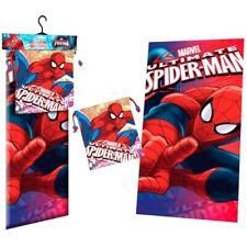 Official Licensed Marvel Spiderman Beach Bath Towel and Drawstring Bag Set Boys