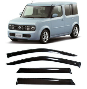 For Nissan Cube II (Z11) 2002-2008 Window Visors Sun Rain Guard Vent Deflectors