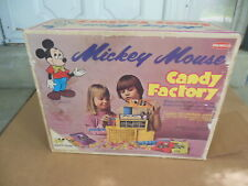 Remco 1973 Mickey Mouse Candy Factory Toy W/box Disney Hard to Find! 7202