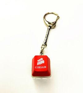Corsair Razer Keycap + Cherry MX Blue Switch Tester Keychain Lighting Up Pendant