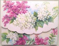 "Carol Wilson Note Cards ""White Hydrangeas"" Portfolio 10 Cards/Envelopes Embossed"