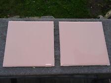 """Reclaimed vintage Pink tile 4.25"""" x 4.25""""  bathroom tile 1960s"""