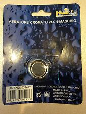 AERATORE CROMATO 24X1 MASCHIO PER RUBINETTO CUCINA CASA GIARDINO CON GUARNIZIONE