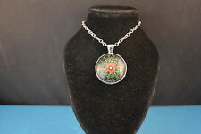 KALEIDOSCOPE  Cabochon  PENDANT -  NECKLACE  colorful  New! Jewelry  USA SELLER!