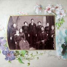 Collectable Antique Photograph Album with Forty Seven Victorian Photographs