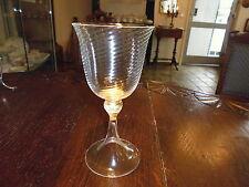 Murano handgeferigtes Weinglas 19 cm mit Goldflitter in Fuß