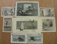 LOT OF 8*1800's*JOHN LOWELL & CO*BOSTON*ENGRAVED *CHRISTMAS & NEW YEAR CARDS