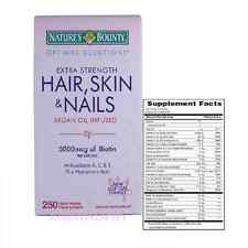 Nature's Bounty® Optimal Solutions Hair, Skin and Nails, 5,000 mcg of Biotin 250