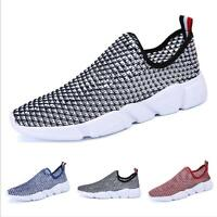 Mesh Casuals Shoes Men Sport Trail Comfort Pull On Athletic Mid Top Breathable
