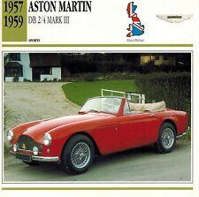 "ASTON MARTIN 1957-1959 ""DB 2/4 MK"" ADVERTISING BROCHURE"
