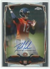 2014 TOPPS CHROME DAVID FALES RC ROOKIE ON CARD AUTO CHICAGO BEARS