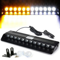 12V LED Amber White Car Truck Warning Emergency Strobe Light Flashing Dash Lamp