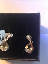 Dangle 3.18 Carats Total Weight! Sterling Silver Natural Citrine Drop