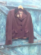 womens jacket size S Joseph designer brown wool velvet riding hacking tailored