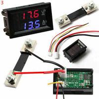DC100V 100A Digital Voltmeter Ammeter Amp Volt Meter Blue Red LED Current Shunt
