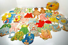 Vintage Paper Doll Collection Cardboard Nancy Sue Bunchy 45 Piece Estate Lot