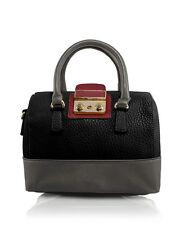 Borsa Donna Mano Nera Grigia Tracolla Bauletto LOOKAT Doctor Handbag Crossbody