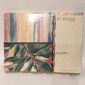 Vtg JCPenney Full Flat Sheet Images Color Forum Multi Color Brand New