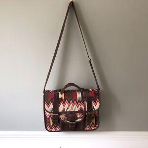 Gringo Messenger Bag Crossbody Kilim Carpet Brown Handbag Satchel Pattern Medium